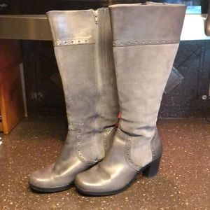 Clark's Grey Tall Boots